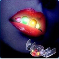 Wholesale Hot New newest novelty led flashing mouth mouth light party toy Helloween funny toy freeshipping
