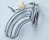 Male Chastity Cage Chastiy Belt Chastity Cage chastity Upgraded  Stainless Steel Male Chastity Art Device Cage +4.5cm Cock ring Sex toys