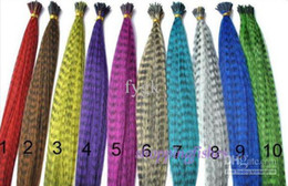 Fashion 16 Inch Long Synthetic Grizzly Rooster Feather Hair Extension Feathers Extensions 200pcs