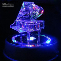 Wholesale Home embellishments Piano style LED light music box Innovative new products birthday valentine wedding gift