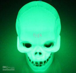 Wholesale 100Pcs Terrorist Skull Colorful lights Halloween activities props LED electronic small night light