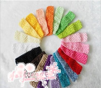 Wholesale MIC Inch Crochet Stretch Baby Infant Girls Headbands Colors