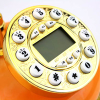 Wholesale DHL Vintage Retro Style Antique Electric Rotary Dial Telephone Handset desk Decoration Christmas gifts