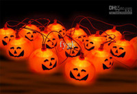 Wholesale 16pcs strings sets Halloween props haunted bar decorative pumpkin string lights pumpkin lanterns