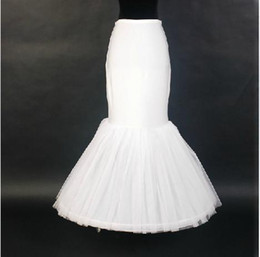 Wholesale 2015 New Mermaid Petticoat Adjustable Waist For Mermaid Bridal Gowns White Or Ivory Tulle Wedding Accessories