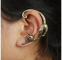 Wholesale hot sale kitten Earhook earrings retro personality punk wind enchanting earrings
