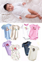 Wholesale Freeshipping Wiggle in Bodysuit Socks Authentic Short Sleeve Infant Romper T