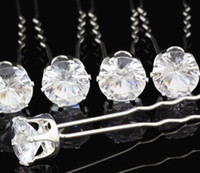 Wholesale Round Acrylic Zircon Hair Pins up Wedding Bridal Jewelry Hair Jewelry Accessories