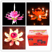 Wholesale Birthday gift flower music candle Wedding Flower Music Candle Lotus Music Candle