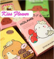 Wholesale Korea style Potatoes Rabbit design Stationery Folding Memo pad Message post notepad24Pcs