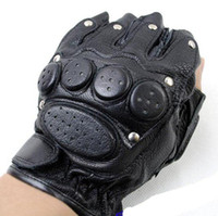 Wholesale Men Real Sheepkin Leather glove with Rivet Air cushion craft Military Tactical swat glove Motorcycle