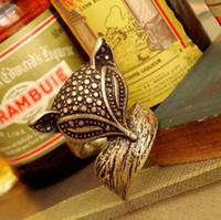 Alloy ancient band - Fashion ancient bronze Retro cute little fox aura ring KJ0161046