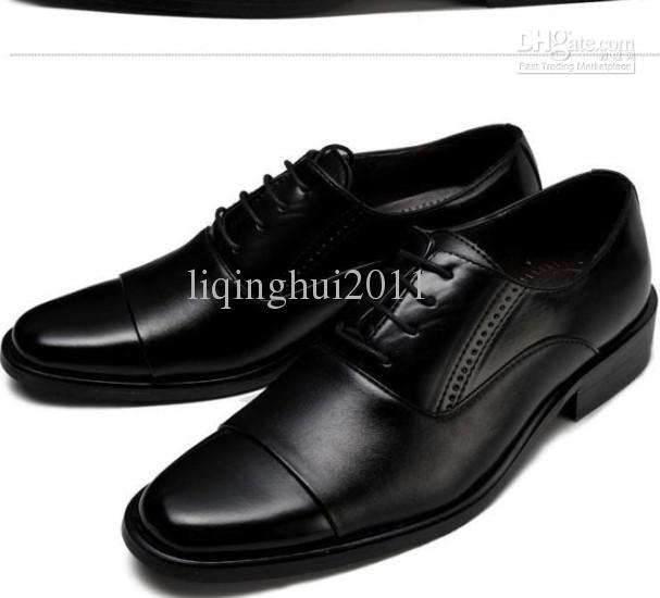 2012 popular black leather dress shoes s casual shoes