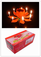 Wholesale Hot Sale Lotus Birthday Cake music Candle Lotus party Music Candles