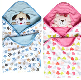 Wholesale momscare Newborn Blankets Baby Double Layer Printing Swaddle Coated Trolley Warm Sleeping Bag Y