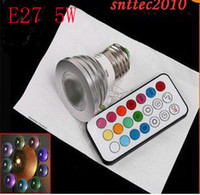 Hot selling E27 B22 GU10 MR16 5W RGB Color Change LED Spotli...
