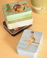 Wholesale Marilyn Monroe pattern of metal cigarette box jewelry box