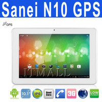 Wholesale Sanei N10 GPS WCDMA G Phone Call Tablet PC Bluetooth Dual Camera HDMI Inch Android Ampe A10
