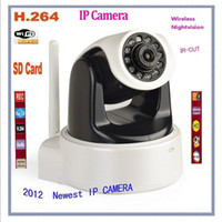 Wholesale Newest HD WIFI Webcam Wireless IP Camera Night Vision H P H amp Mjpeg PT With IR Cut SD Card