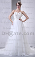Actual Images wedding dress feather - 2012 New Sexy Strapless Wedding Dresses PR158 Ball Gown Beaded Belt Feather Beach Babyonline Dresses