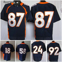 Wholesale 2012 Danver Blue Elite American Football Jerseys Drop Shipping