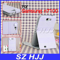 Wholesale Leather Flip Case for Samsung Galaxy Note II N7100 Football Grain Card Slots Protective Cover