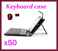 Wholesale 50pcs inch PU Leather Case Keyboard Cover for Android Tablet RW L12
