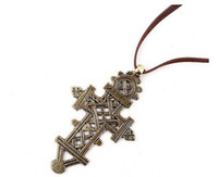 Wholesale 2012 Fashion New Cross Pendants Necklace Choker Sweater Necklace Large Long Charm Diamond Necklaces