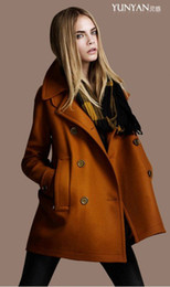 Womens Brown Wool Coat