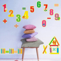 Wholesale New NUMBERS WALL DECALS Counting Stickers Teach Math Kids Room Decor