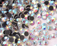 Wholesale DIY ss6 ss8 ss10 ss40 crystal AB iron on DMC hot fix transfer rhinestone diamond for garment