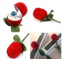 Wholesale 10pcs x KEEPSAKE Red Velveteen ROSE BUD Jewelry Ring Gift Boxes the rings are not included