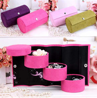 Wholesale Jewelry Box Pouches Bags Exclusive Leather Storage boxes organize Great Lady gift Cheap Jewel Case
