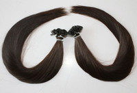 "brown straight 1.0g 18"" Pre Keratin Flat-Tip Human Hair Extension #2 dark brown ,1g s 100g set"