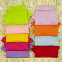 Wholesale Pet Dog Clothes Apparel Cotton POLO T Shirt Size XS S M L