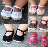 Wholesale 10pairs Crocheted baby shoes loafers slippers for newborn baby kids wear Toddler shoes custom