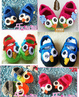 Wholesale Crochet Baby Shoes Angrybirds Owl crochet Handknitting baby Shoes booties knit soft T pc