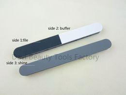 Nail File 20pcs lot 3 ways polishing buffer nail file for nail art nail care nail buffers