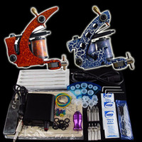 2 Guns Beginner Kit  Beginner Tattoo Kit 2 Machine Gun Power Supply Foot Pedal Needle Grip Tip K67