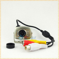 Wholesale Mini Wired Color CCTV Night vision CCTV Camera With LEDs and Audio Microphone