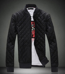 Wholesale Men s New fashion PU jacket take a leisurely life winter warm coat Black and brown