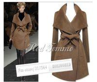 Wholesale Women s Christmas New large lapel and long Parka Coat authentic wool coat