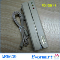 Wholesale Free DHL shipping msr609 USB interface Portable Magnetic stripe card reader and writer
