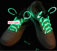 Wholesale 5pcs cm Led luminous shoelace Red blue green light