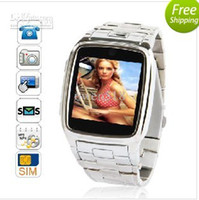 Wholesale Unlocked TW810 inch Touch Screen Wrist Watch mobile Cell Phone with Camera Support Bluetooth MP3 MP4 Si