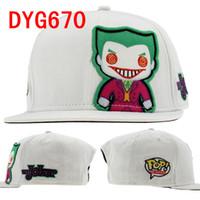 Wholesale DC Comics The Joker Funko Snapbacks Hat Adjustable Sport Cap Mix Order High Quality Hellosport86