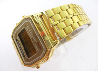 Fashion g-shocks watches - Men Women F W Sport watches f91 Gold and Silver thin multicolour LED watch alarm clock