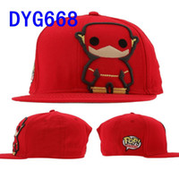 Wholesale DC Comics Flash Funko Snapbacks Adjustable Sport Cap Mix Order High Quality Free Ship Hellosport86