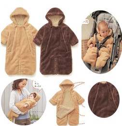 Wholesale 4pcs Christmas winter long sleeve Baby cart sleeping bag Baby s clothing baby romper night robe