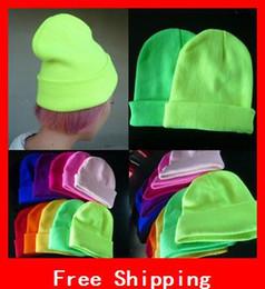 New Designer Fashion Fluorescent Couleurs chapeaux d'hiver pour les femmes Bonnet d'hiver pour les hommes Neon Cap designer hat caps on sale à partir de casquettes concepteur de chapeau fournisseurs